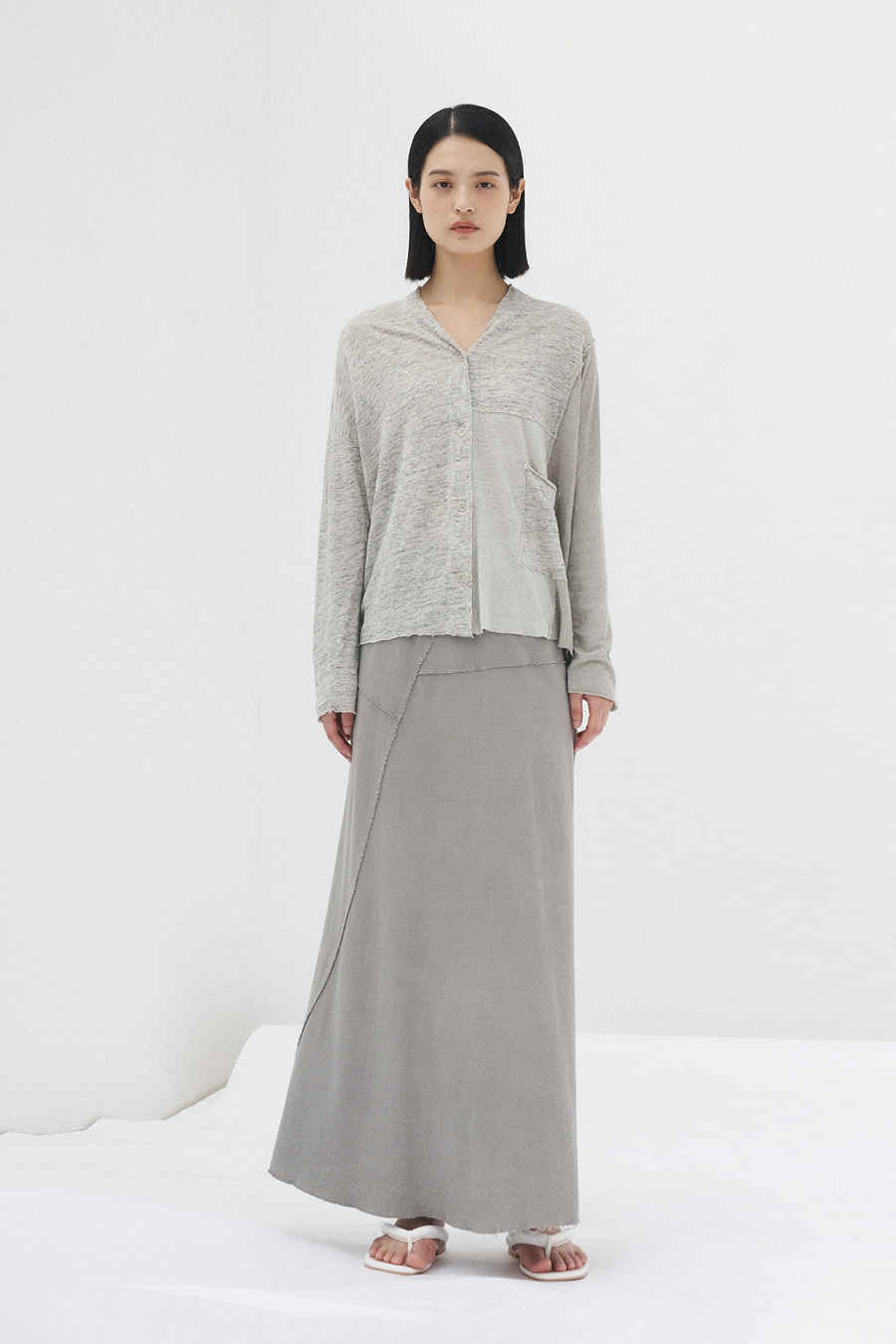 bailey dyeing skirt(GRAY)