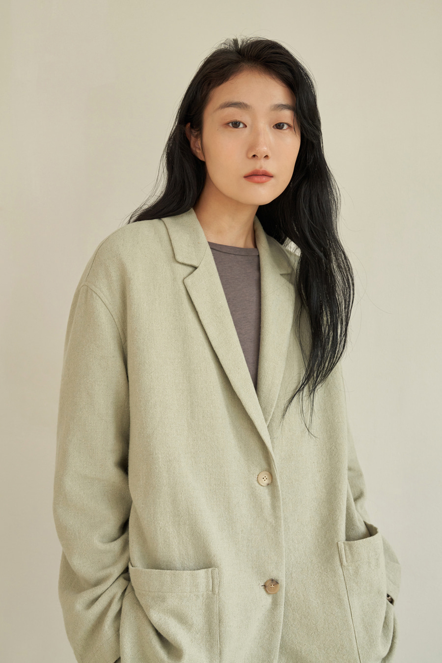 majo two button jacket