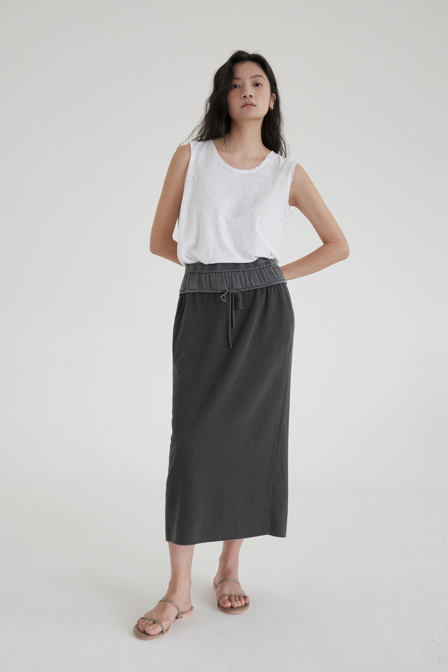 new coloration dying skirt (2colors)