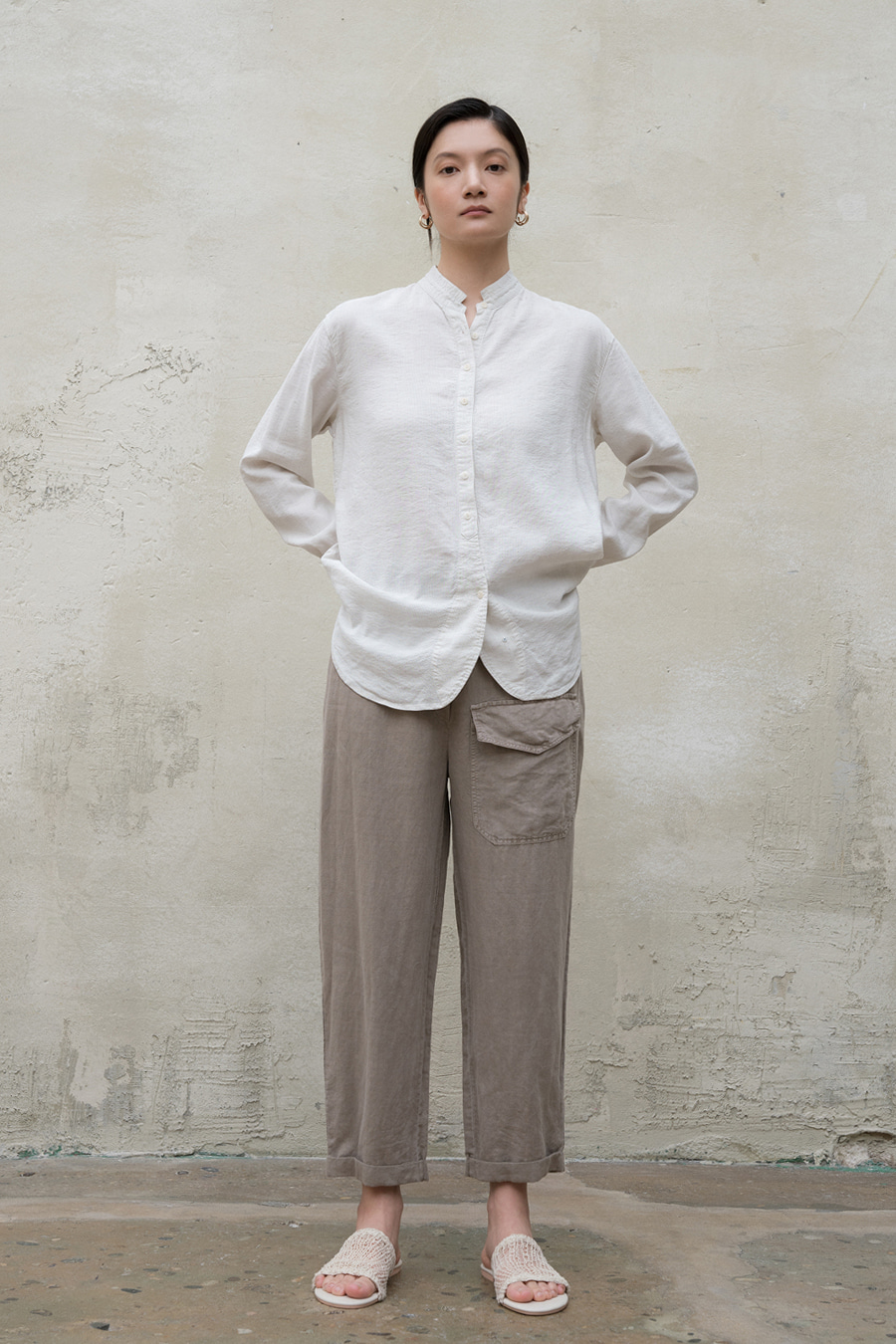 point pocket baggy pants