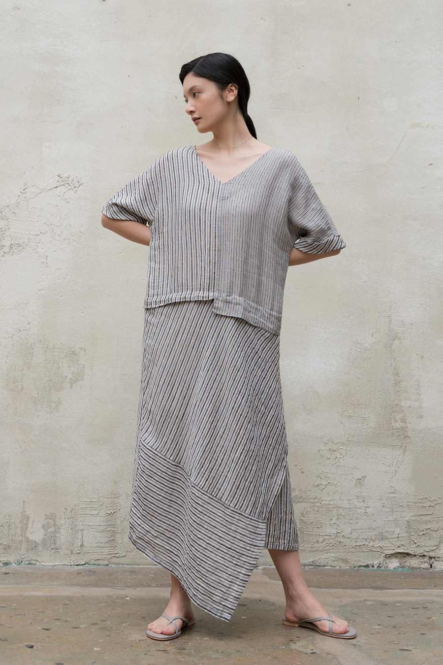 monica linen one-piece