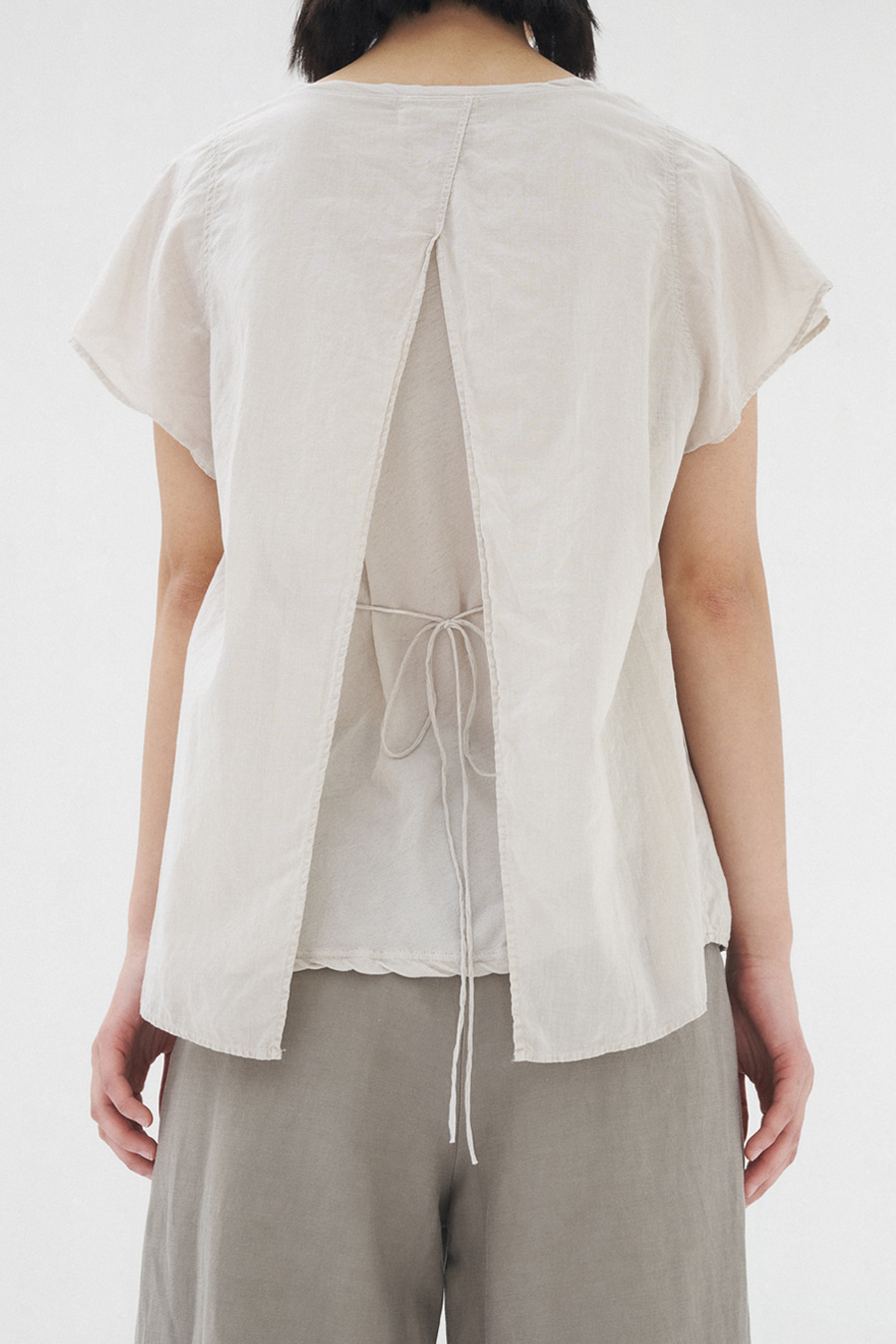 lin layered blouse