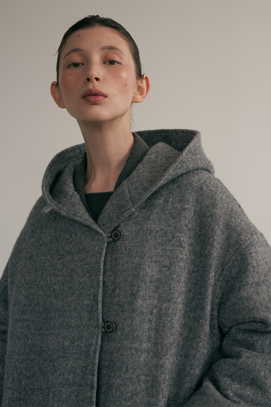 gray wool hood coat [11/13 입고예정]