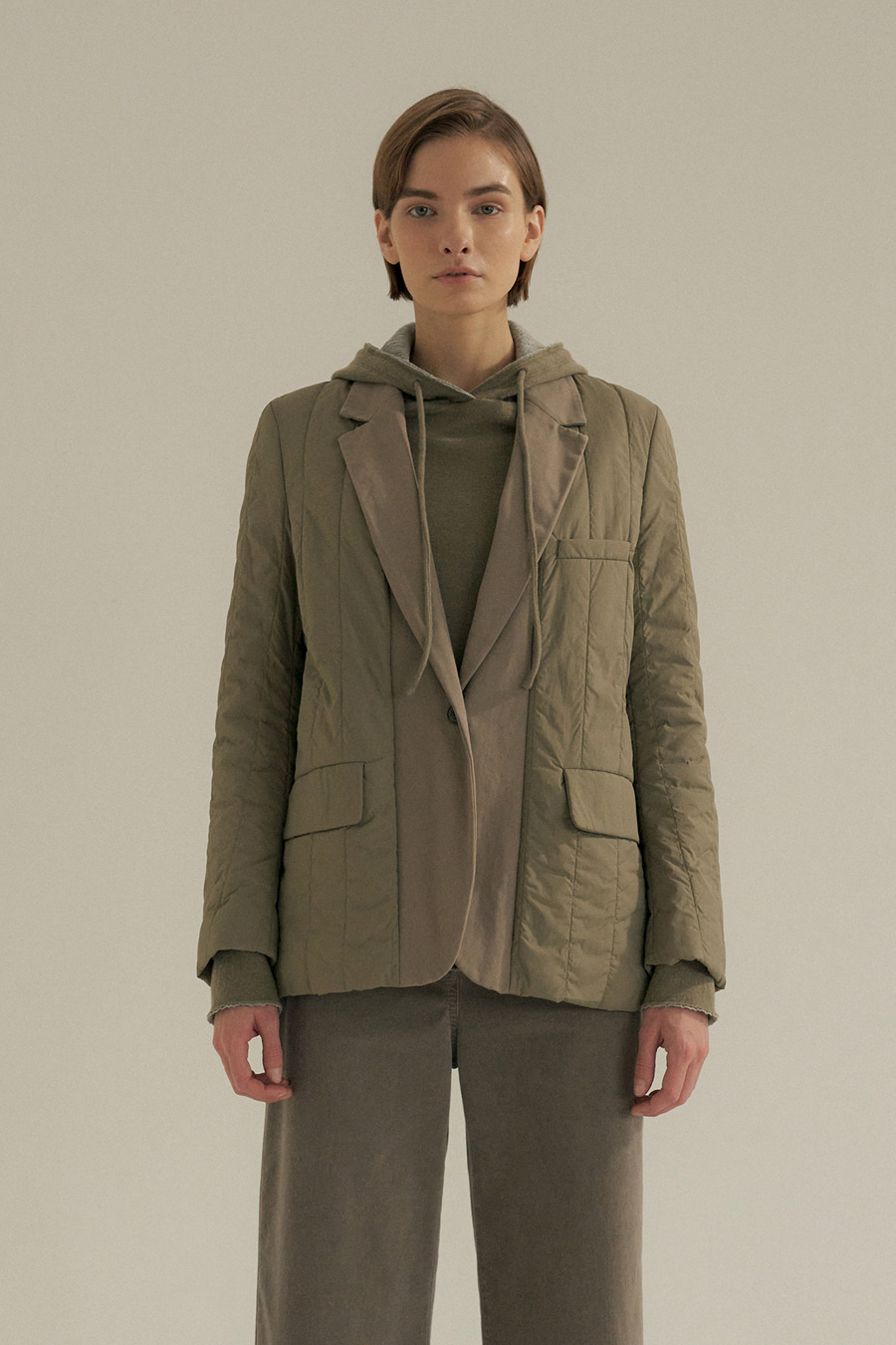 authentic padding jacket(KHAKI)