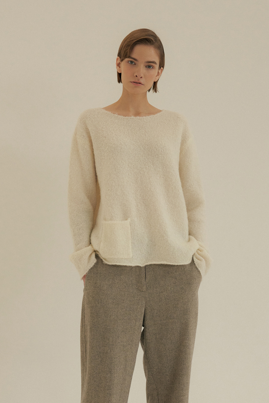 country boucle knit(IVORY)